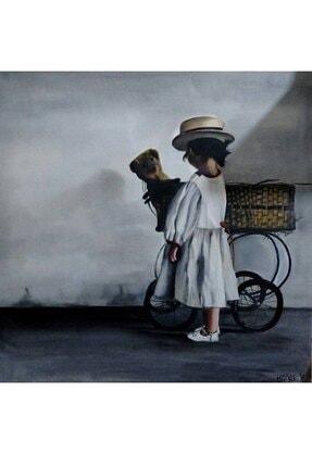 artoloji Hülya Gökçe, Büyü Çocuk ,Tuval üzerine yağlı boya, 100x100 cm