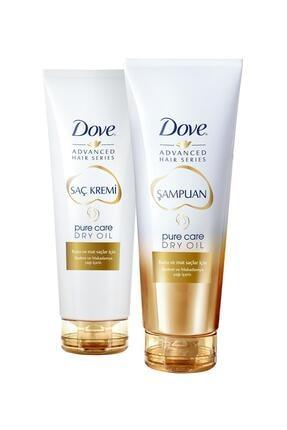 Dove Advanced Hair Series Pure Care Dry Oil Şampuan 250 ml + Saç Kremi 250 ml