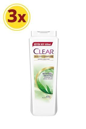 Clear Bitkisel Sentez Şampuan 600ml X3