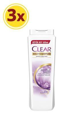 Clear Komple Bakım Şampuan 600ml X3