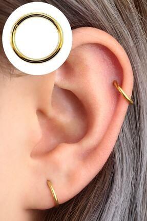 Vilma Aksesuar Kadın Cerrahi Çelik Piercing Kulak Kıkırdak Küpe  8mm