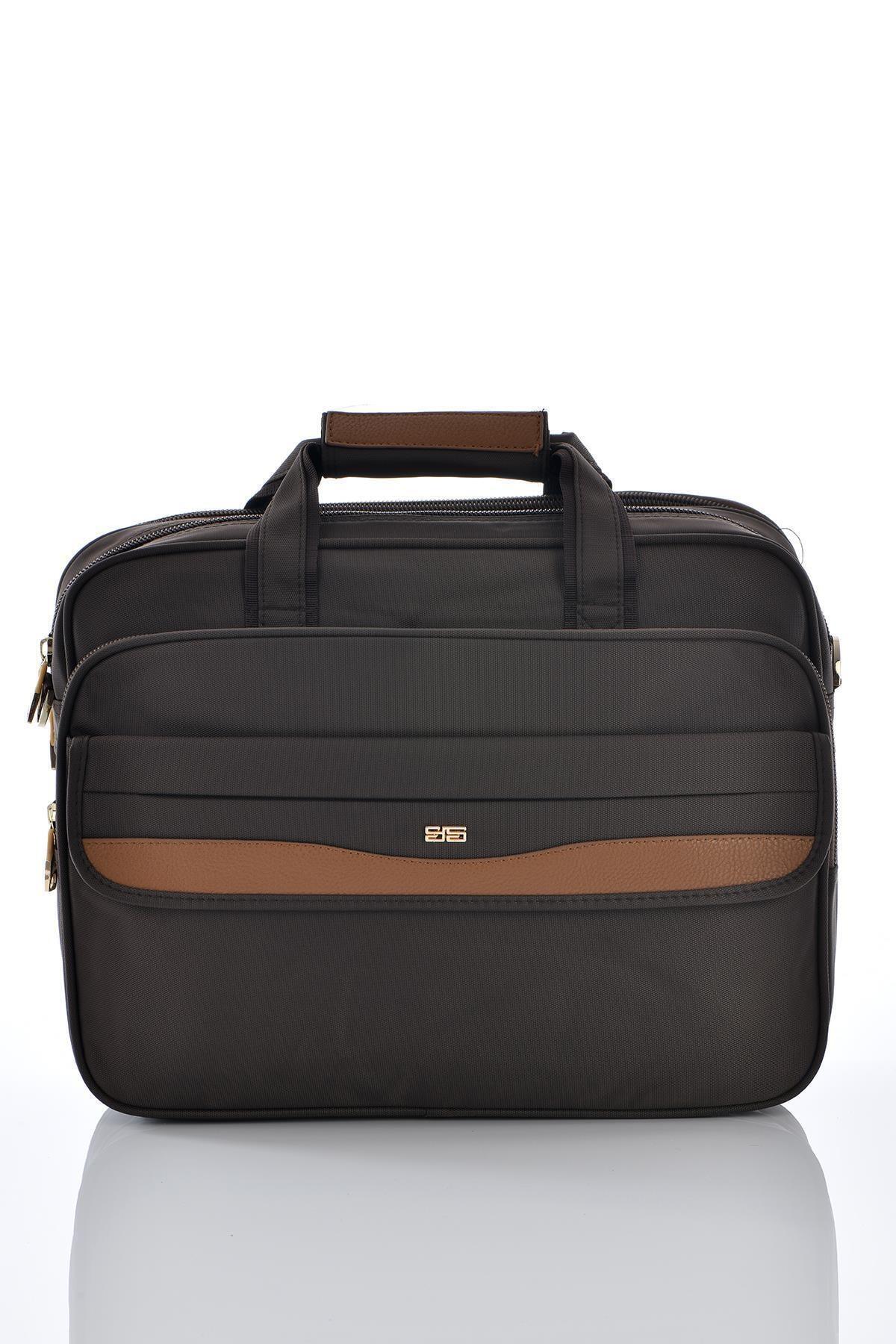 ÇÇS 71233 Laptop Bölmeli Evrak Çantası Kahverengi 1