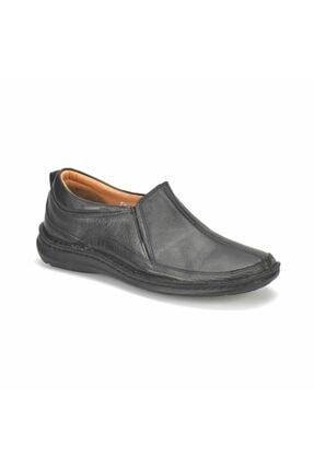 Flogart Erkek Siyah Hakiki Deri Confort Casual Günlük Ayakkabı