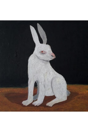 Sümeyra Yüce Duran Tavşan, 40x40, Mdf Üzerine Karışık Teknik