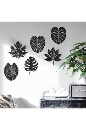 Home Art İstanbul Altı Parça Ormandan Yapraklar Isimli Duvar Tablo Seti (150 Cm)