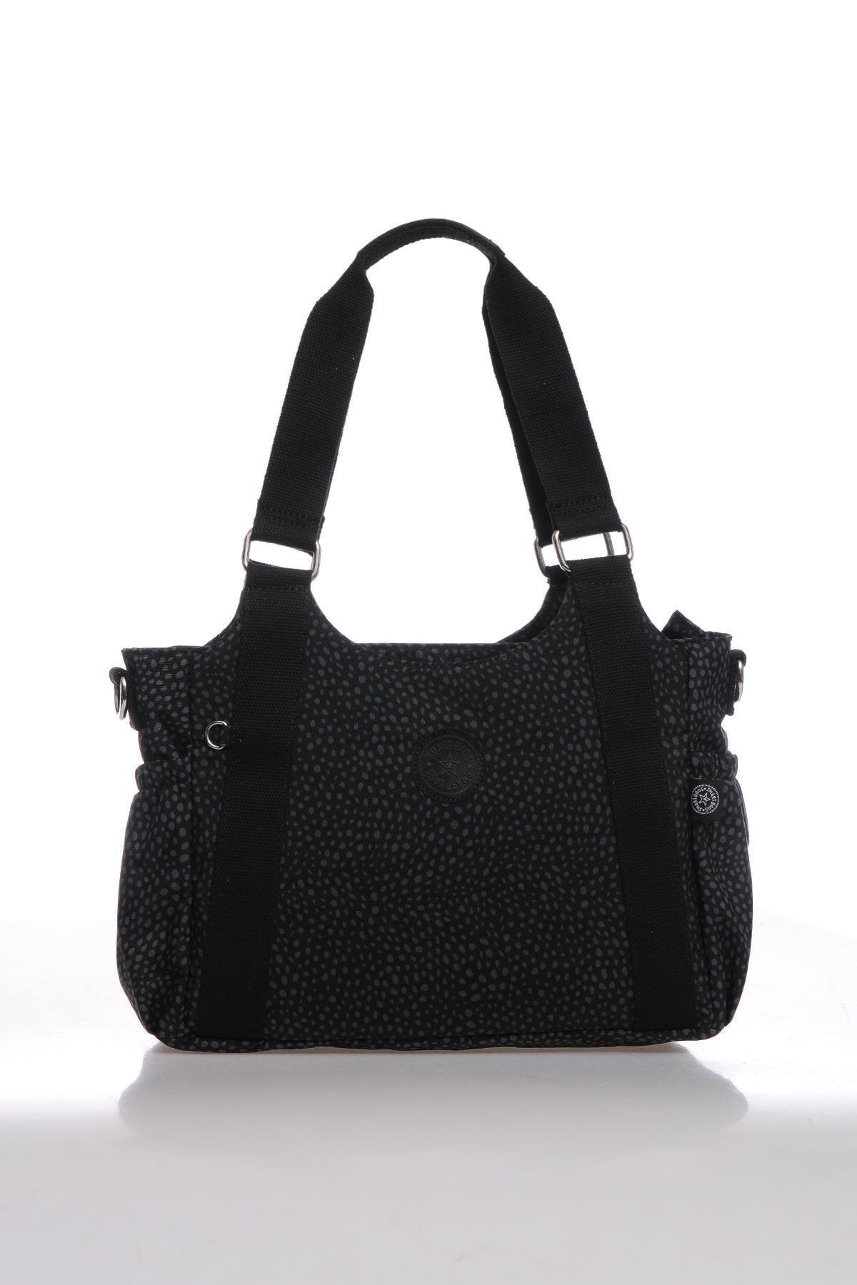 SMART BAGS Kadın Siyah Puantiyeli Omuz Çantası Smbk1163-0091 1