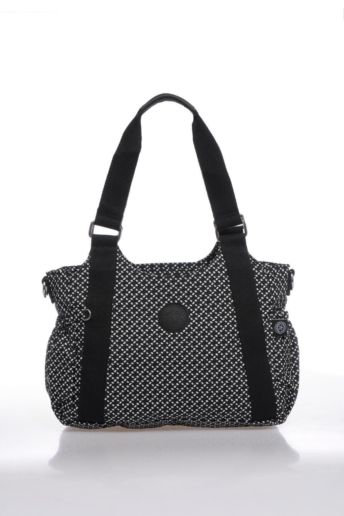 SMART BAGS Kadın Siyah Beyaz Omuz Çantası Smbk1163-0127 1