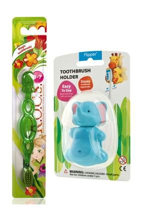 R.O.C.S. Kids 3-7 Yaş Diş Fırçası Ve Flipper Hijyenik Saklama Kabı Seti - Fil Figürlü