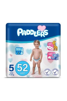 Paddlers Bebek Bezi 5 Numara Junior 52 Adet (11-25 Kg) Jumbo Paket