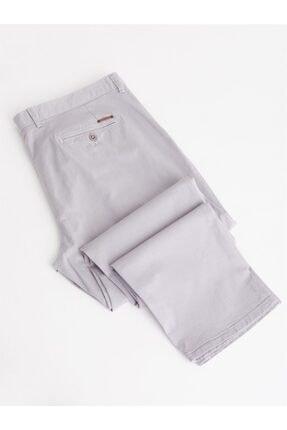 Dufy Açık Gri Büyük Beden Düz Sık Dokuma Erkek Pantolon - Battal