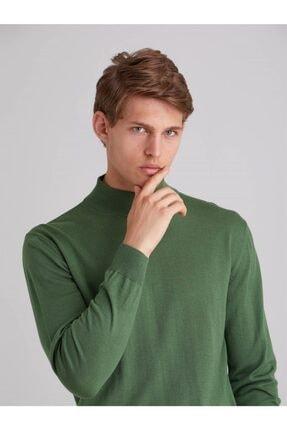 Dufy Erkek Açık Yeşil  Regular Fıt Triko Kazak
