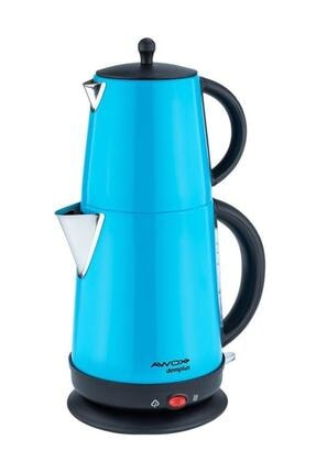 AWOX Mavi Demplus Elektrikli Mavi Renkli Çelik Çay Makinesi