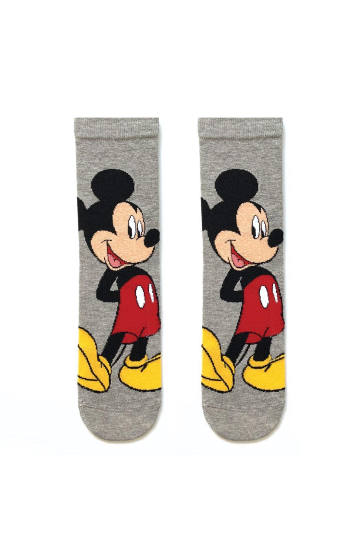 Socks Stations Unisex Renkli 5'li Mickey ve Minnie Mouse Çorap Kutusu 2