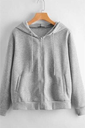 Madmext Kadın  Gri Sweatshirt Mg784