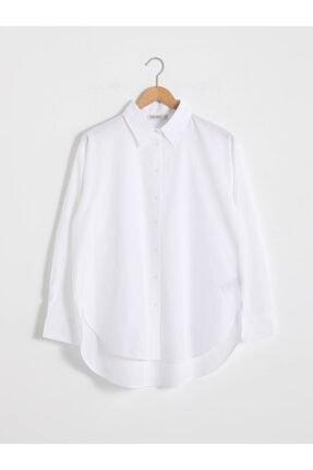 LC Waikiki Kadın Beyaz Uzun Kollu Gömlek
