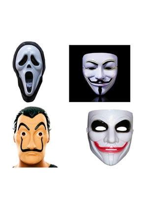Limitless Trade 4 Adet Çığlık Vandetta La Casa De Papel Ve Joker Maskesi