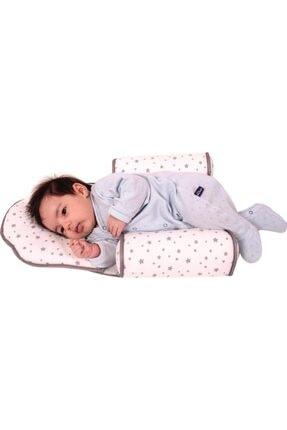 Sevi Bebe Kafa Şekillendirici Yastık Yan Yatış Yastığı Art-33 Gri Yıldız