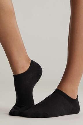 Oysho Kadın Siyah 5 Çift Pamuklu Bilek Boyu Çorap