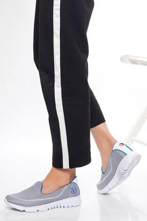 derithy Kadın Gri Garni Sneaker