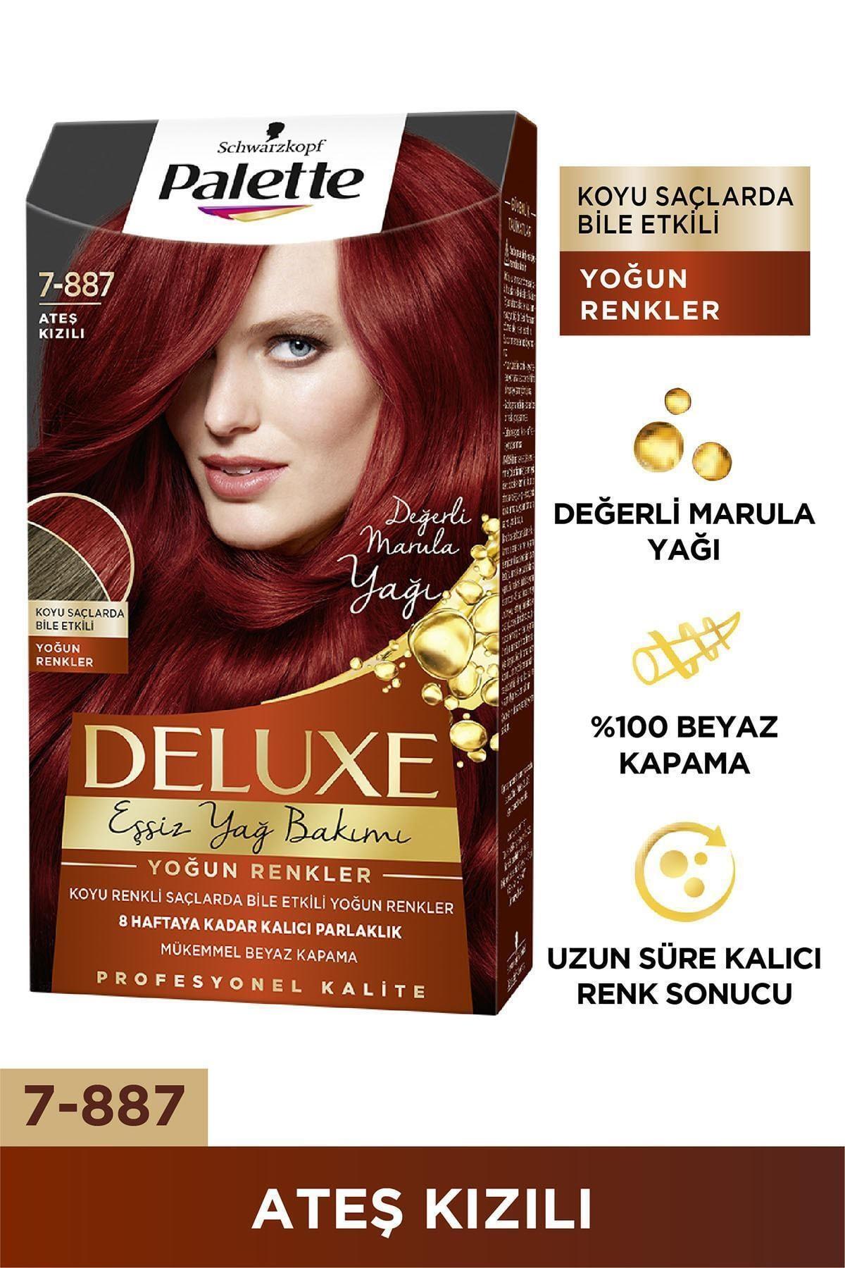 Palette Deluxe Yoğun Renkler 7-887 Ateş Kızılı Saç Boyası 2