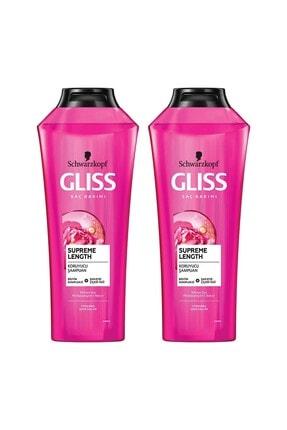 Gliss Supreme Length Uzun Saçlara Özel Şampuan 400 ML 2'li