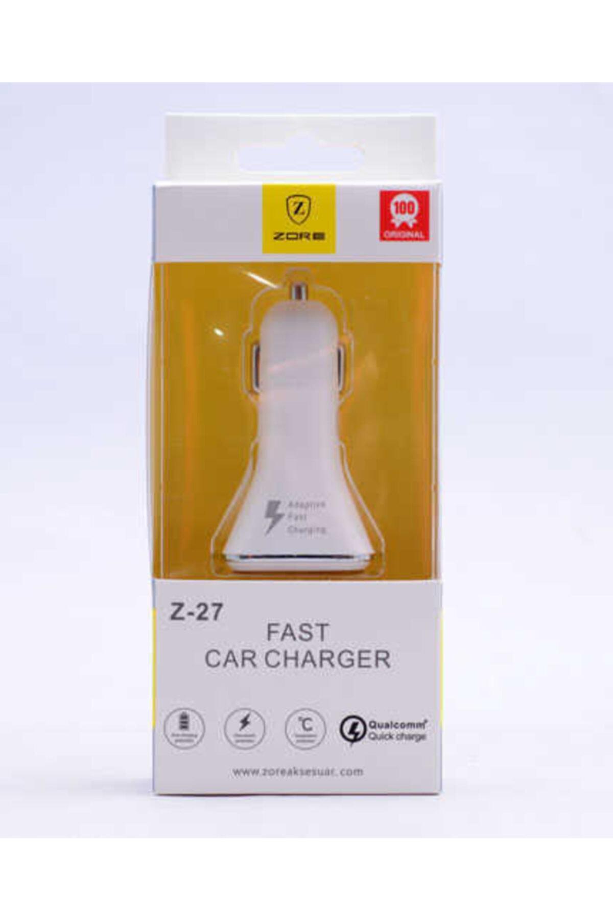 zore Fast Car Charger Z-27 Araç Şarj Kafası 1