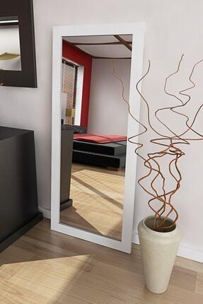 DEKORFİM Beyaz Çeçeveli Trend Dekoratif Boy Aynası 160x48 cm