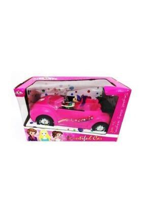 OKTOYS Barbie Arabası 36 Cm Pembe King Toys Evcilik Kız Oyuncak