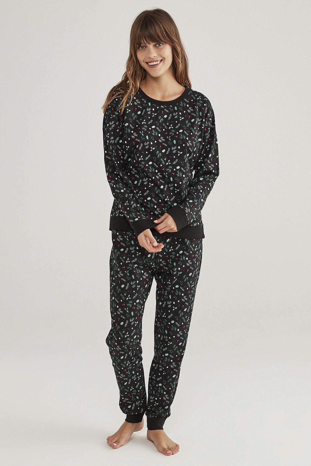 Penti Siyah Dark Season Pijama Takımı 2
