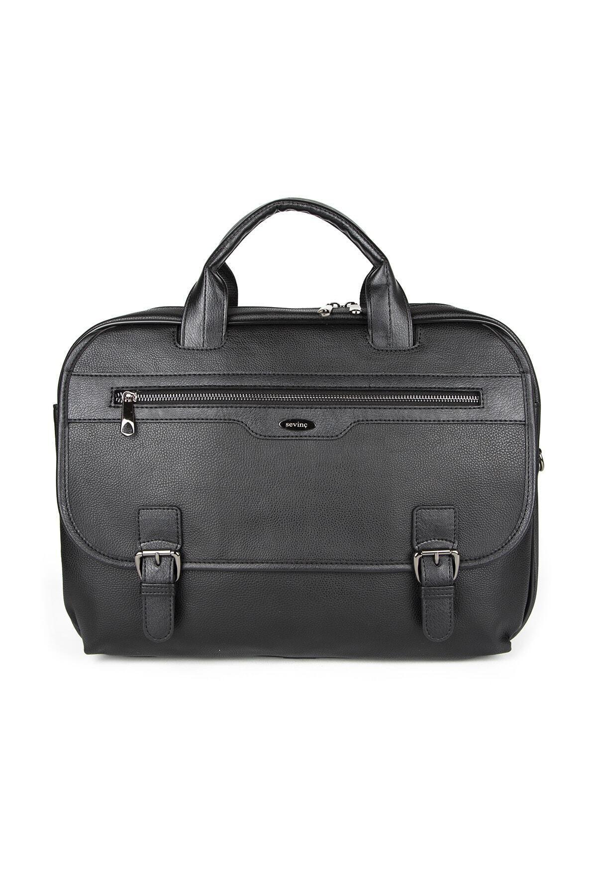 Sevinç Çanta Siyah Laptop Evrak Çantası 1