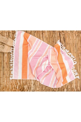 English Home Sea Dreams Plaj Havlusu 75X150 Cm Pembe - Turuncu