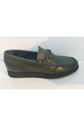 MARCOMEN Erkek Haki Bağsız Örme Toka Loafer Günlük Ayakkabı