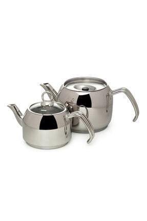 Hisar Mercury Cam Kapaklı Çaydanlık - Gri