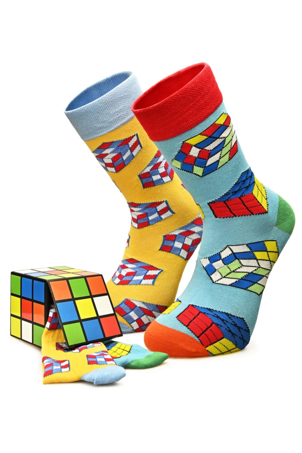 Özgür Çoraplar Erkek Rubik Kombin Çorap 1