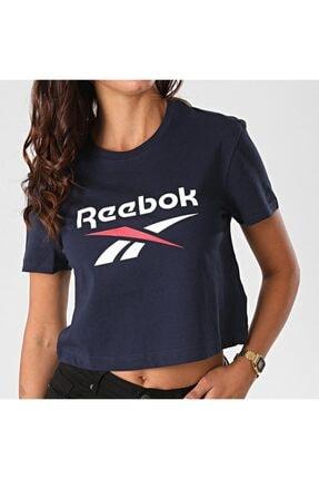 Reebok Kadın Ft8181 Cl F Big Logo Kadın Lacivert Tişört