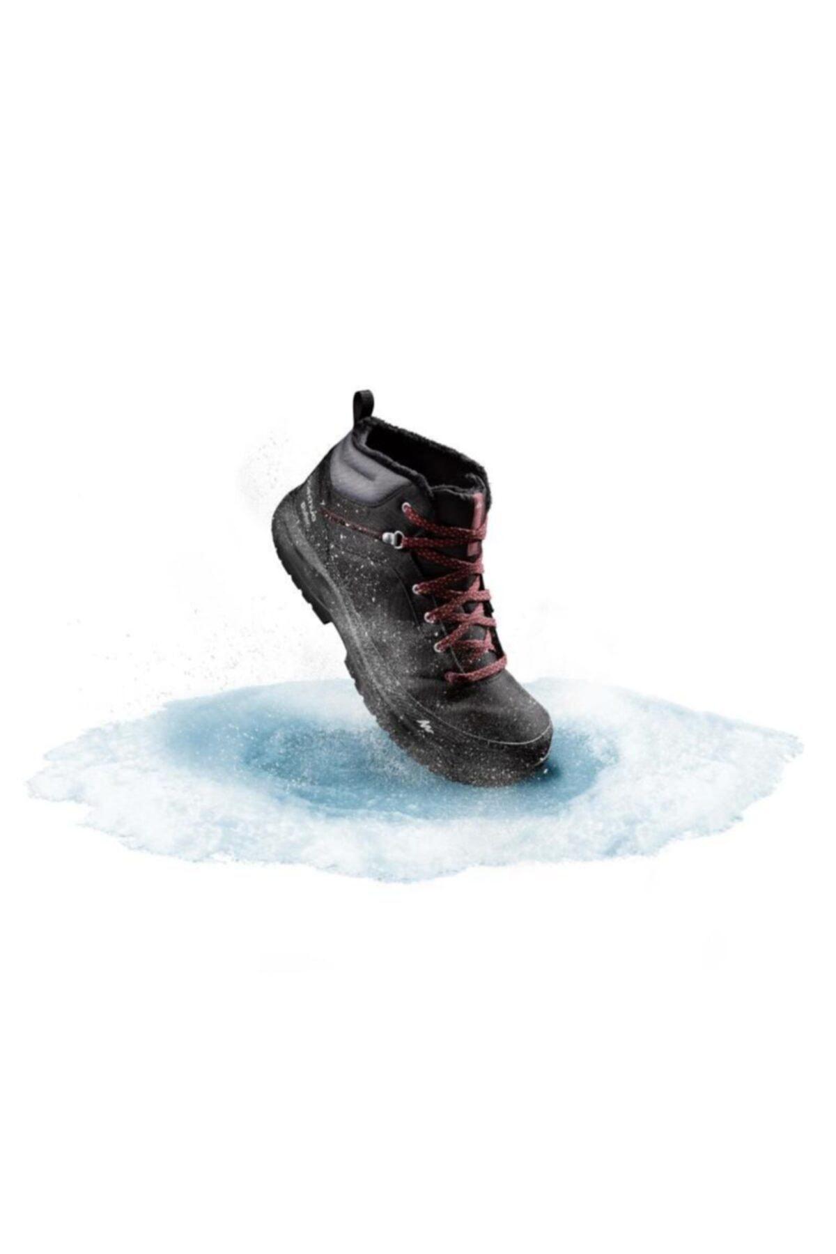 Quechua -20°c Derece Snow Erkek Meridyendukkan Kışlık Bot Su Geçirmez Kar Botu Ayakkabı Siyah 1