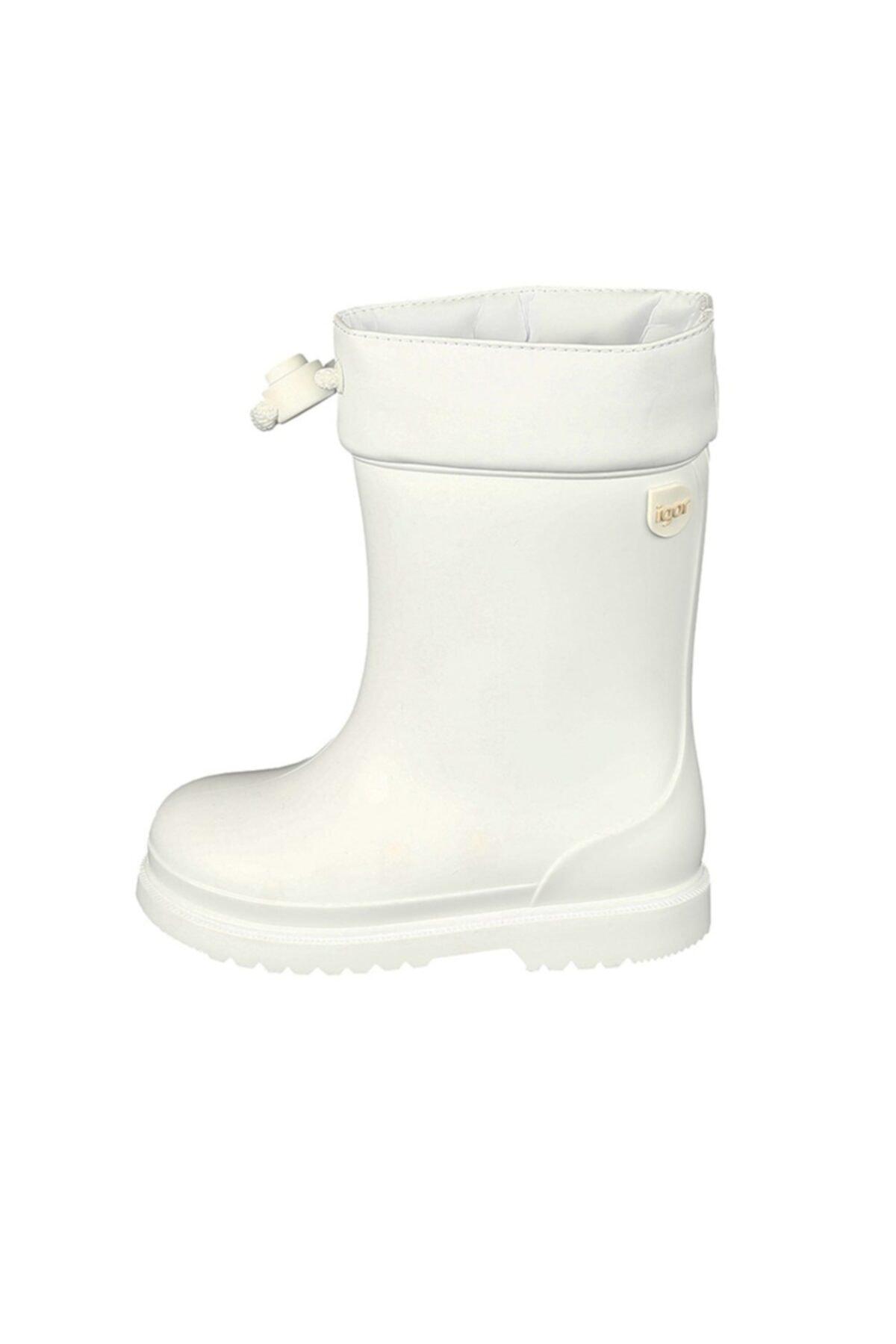 IGOR Chufo Cuello Çocuk Beyaz Yağmur Çizmesi 21-29 2