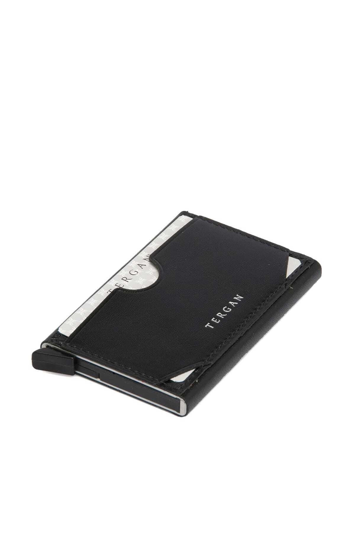 Tergan Unisex Siyah Deri Kredi Kartlık S1KK00000260 1