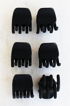 TAKIŞTIR Altılı Siyah Renk Mandal Set Toka (küçük Boy)