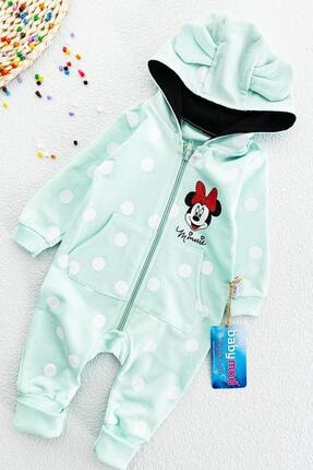 Babymod Kız Bebek Minnie Mouse Figürlü Kapüşonlu  Tulum
