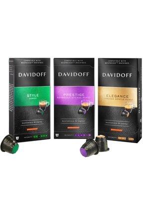 Davidoff Özel Seri Nespresso Uyumlu Kapsül Kahve Seti 3x10 Toplam 30 Adet