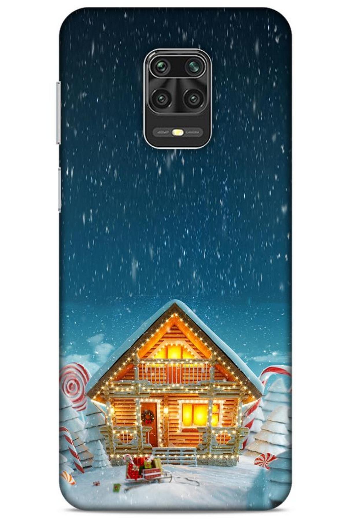 Lopard Xiaomi Redmi Note 9 Pro Kılıf Snowix (8) Baskılı Kılıf Lacivert 1