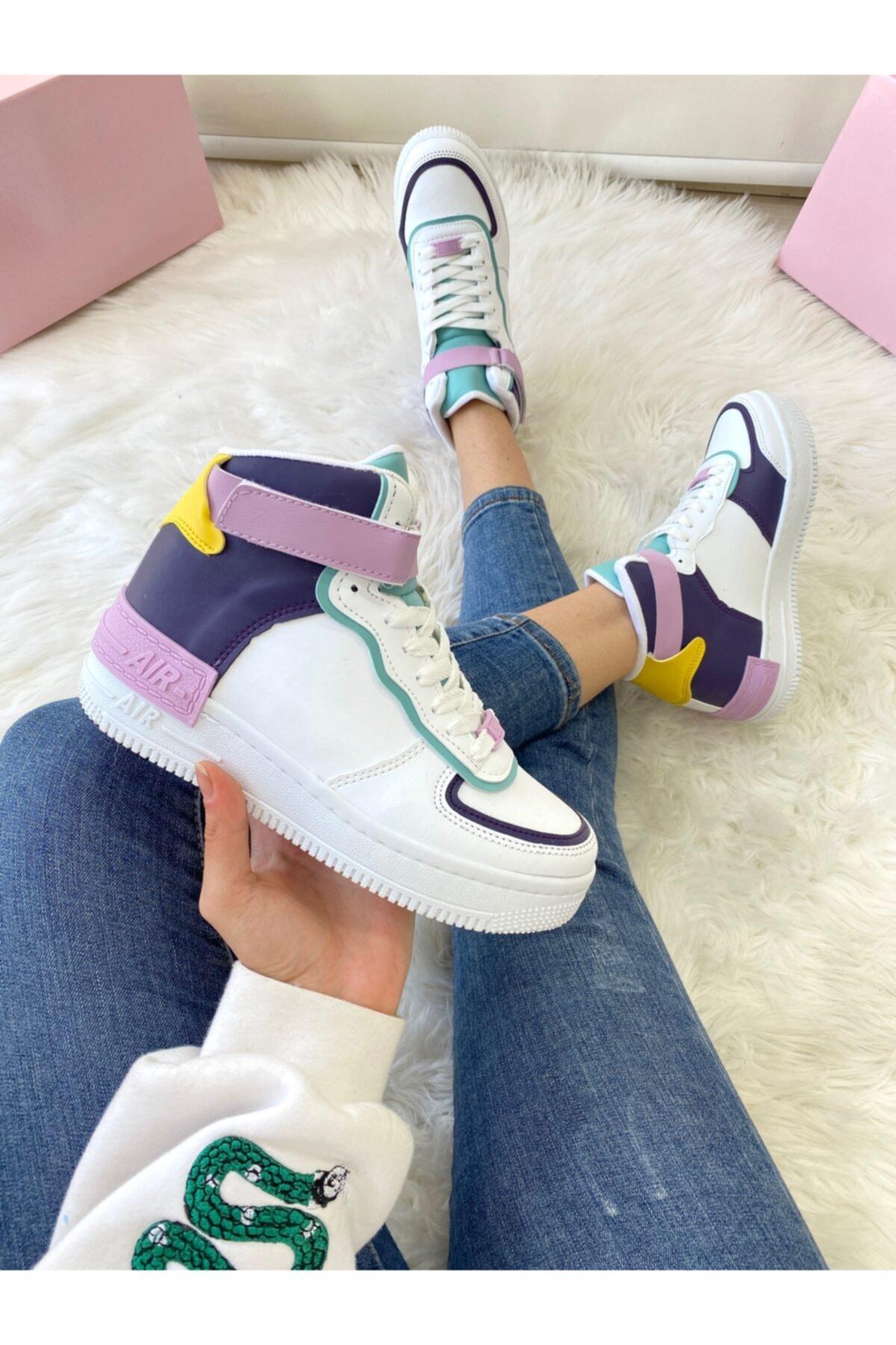 ELSESHOES Kadın Bıleklı Mor Spor Ayakkabı 1
