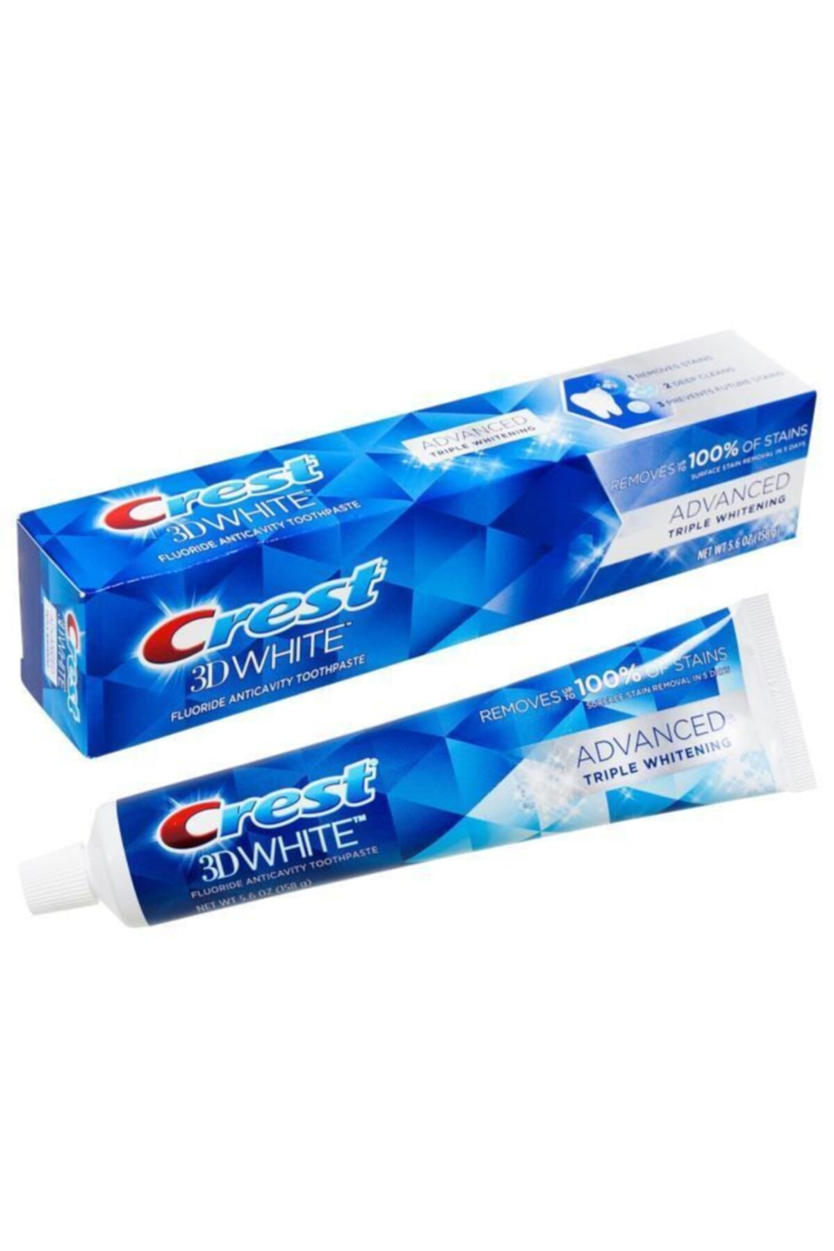CREST 3d White Advanced Triple Whitening Diş Macunu 158 gr 1