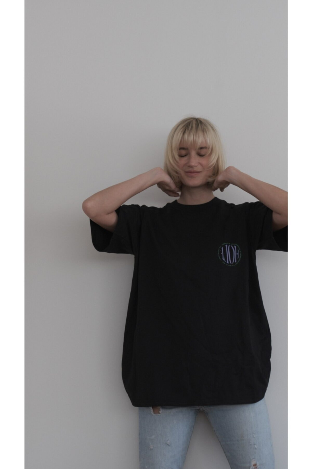 HOLEACADEMIE Unisex Oversize Tshirt 2