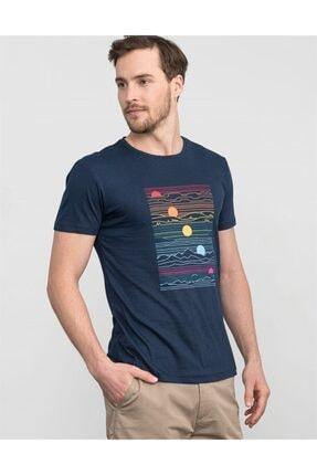 Tudors Bisiklet Yaka Slim Fit Baskılı T-shirt