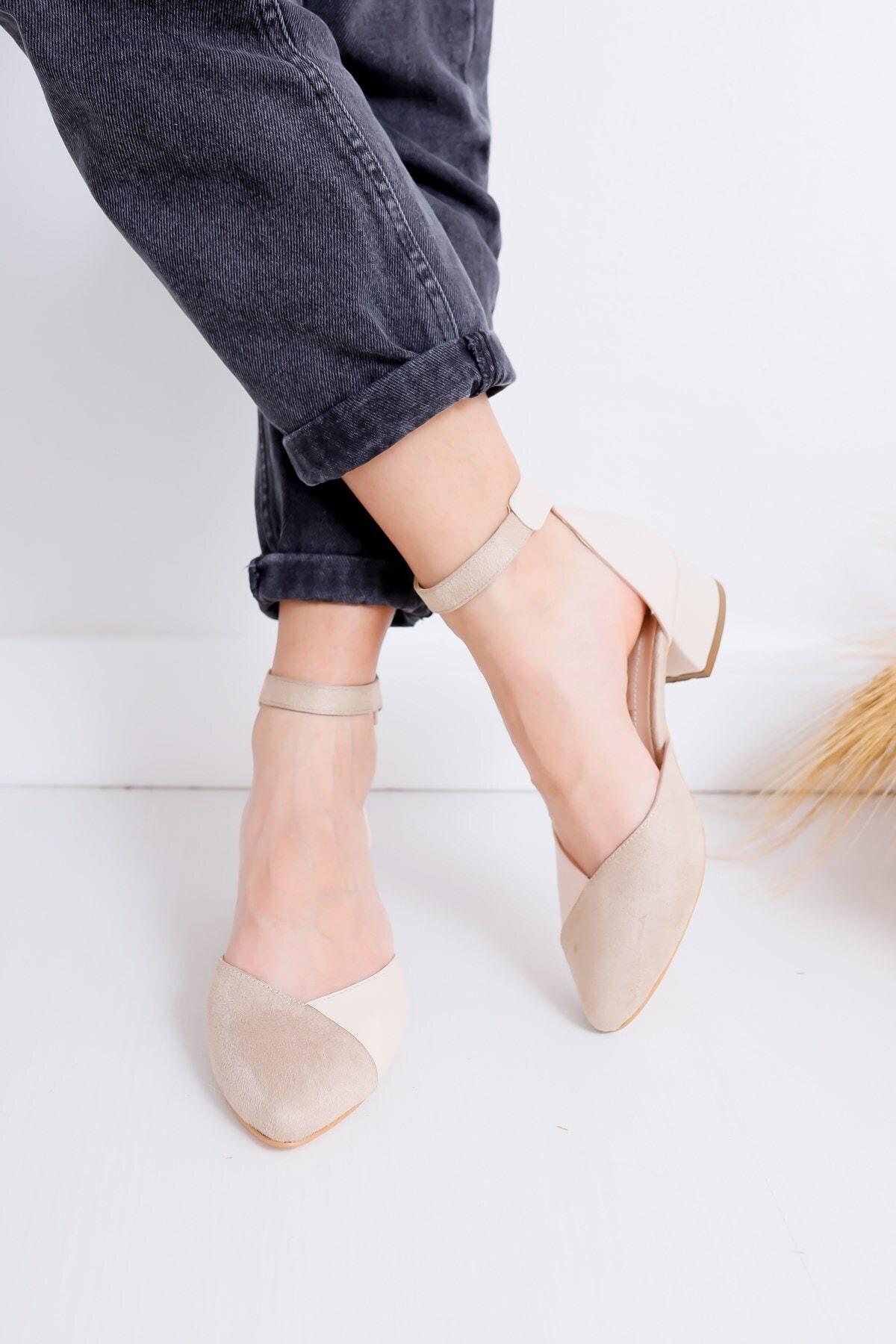 Hayalimdeki Ayakkabı Holly Topuklu Ten Cilt-süet Ayakkabı 2