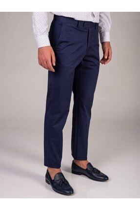 Dufy Lacivert Düz Erkek Pantolon - Regular Fıt