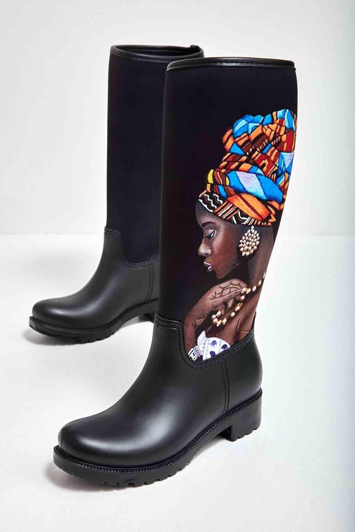 Bambi Siyah Kadın Çizme M0574111523 1