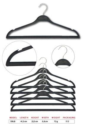 TENA MODA Unisex Siyah Dolgulu Kıyafet Elbise Gömlek Pantolon Etek Askısı 5 Adet